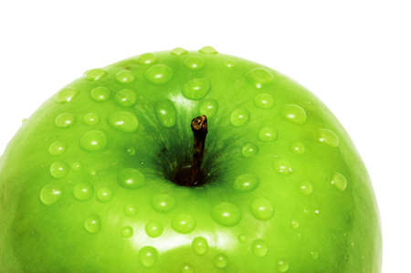 Close-up of an apple with water drops Stock Photo - 753864