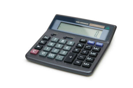 Accounting calculator isolated on the white background photo