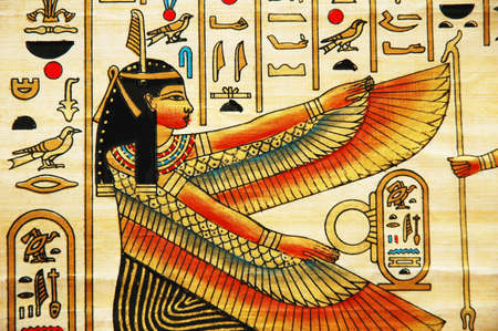 scribes: Papiro con elementi di storia antica egiziana