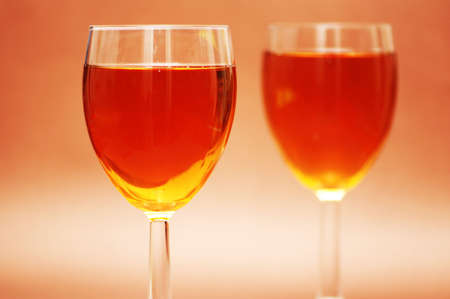 Two wine glasses  under the bright light Stock Photo - 803501