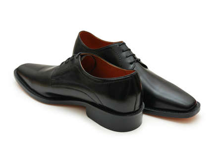 footware: Black male shoes isolated on the white - more footware in my portfolio