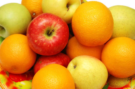 Oranges  and apples assorted in the tray Stock Photo - 822691