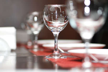 Wine glasses on  the table - shallow depth of field Stock Photo - 833687