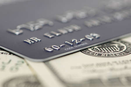 Credit card and dollars with shallow depth  of field Stock Photo - 836803