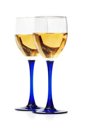 Two wine glasses isolated  on the white Stock Photo - 846706