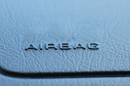 Airbag caption on the car  leather dashboard photo