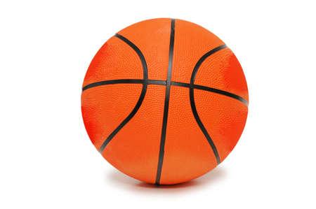 Orange basketball isolated on the  white background Stock Photo - 946290