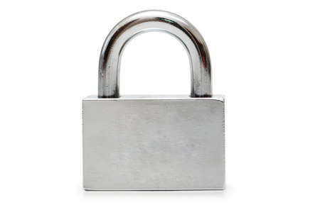 Silver padlock  isolated on the white background Stock Photo - 946292
