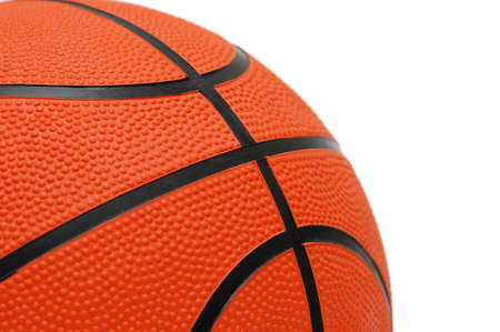 Orange basketball isolated on the white  background Stock Photo - 1117923