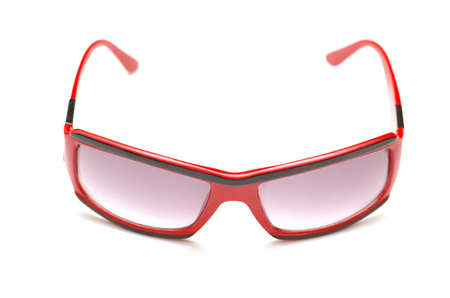 closeups: Sun glasses isolated on  the white background Stock Photo