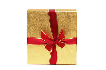 Gift box isolated on the white background Stock Photo - 1117992