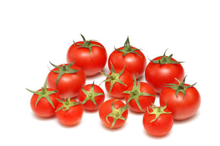 Many tomatoes isolated on the white background Stock Photo - 1215633