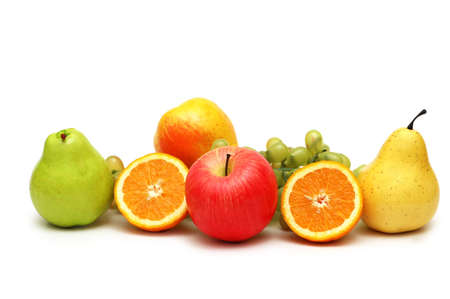 Various fruits isolated on the white background Stock Photo - 1215654