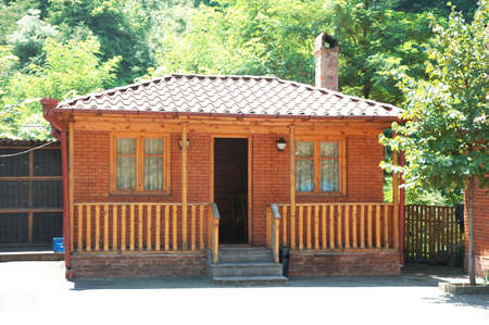 Wooden house on a bright summer day Stock Photo - 1354045
