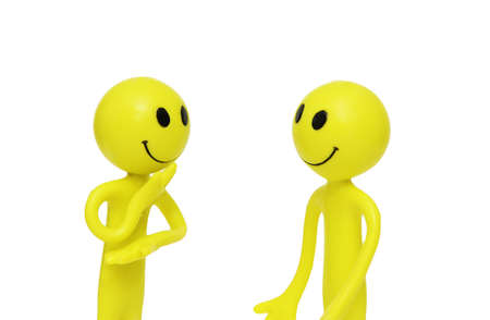 Two smilies engaged in the business discussion Stock Photo - 1353973