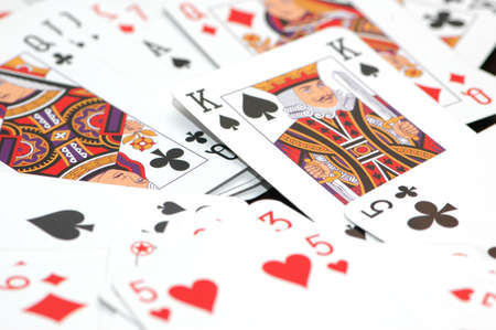 Lots of playing cards on the table Stock Photo - 1729422