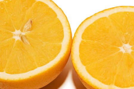 Two oranges isolated on the white background Stock Photo - 1833413