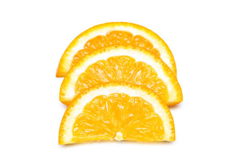 Three orange slices isolated on the white Stock Photo - 1833395