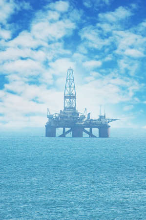 Offshore Oil Rig in the Caspian Sea