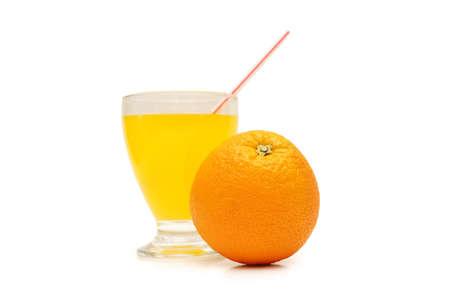 Orange and orange juice isolated in white Stock Photo - 1888085