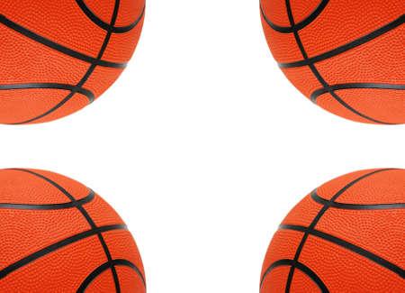 basketballs: Orange basketballs isolated on the white  background