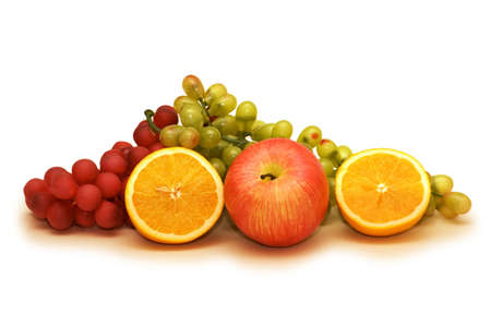 Various fruits isolated on the white background Stock Photo - 1987456