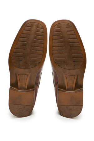 Sole of brown shoe isolated on the white Stock Photo - 1987476