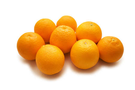 Lots of oranges isolated on the white Stock Photo - 1987125