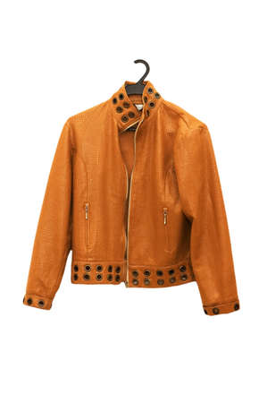 Orange jacket isolated on the white backrgound Stock Photo - 1987474