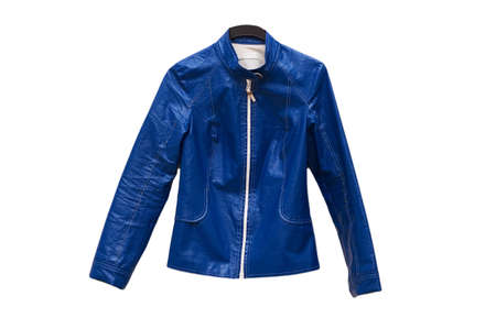 Blue jacket isolated on the white background