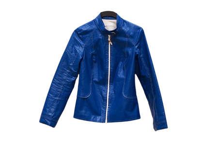 Blue jacket isolated on the white background Stock Photo - 1987467