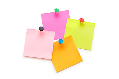 Notes isolated on the white background photo