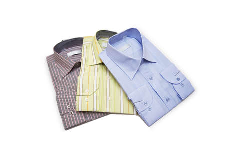 Striped shirts isolated on the white background Stock Photo - 2138281