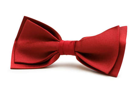 Red bow tie isolated on the white Stock Photo