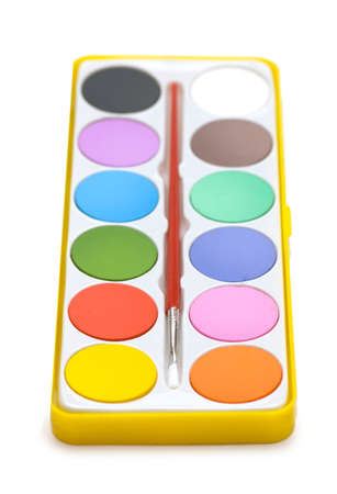 Painters palette isolated on the white background Stock Photo - 2221661