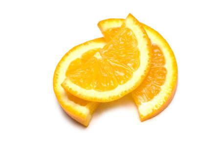 Three orange slices isolated on the white Stock Photo - 2221658