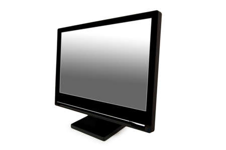 Black lcd monitor isolated on the white Stock Photo - 2324092