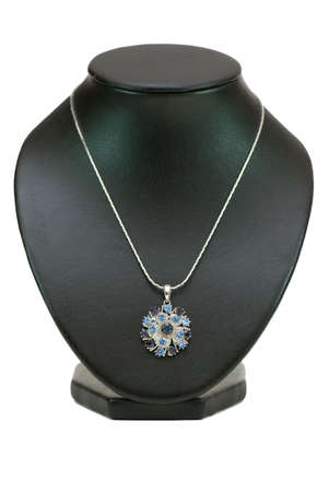 diamond necklace: Diamond necklace isolated on the white background