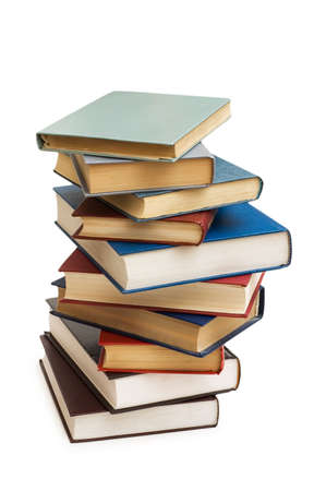 Stack of books isolated on the white Stock Photo - 2324226