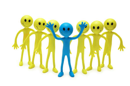 tabassum: Stand out from the crowd concept with smilies Stock Photo