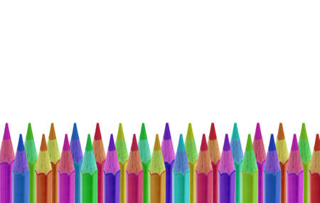 educating: Pencils of various colours isolated on white
