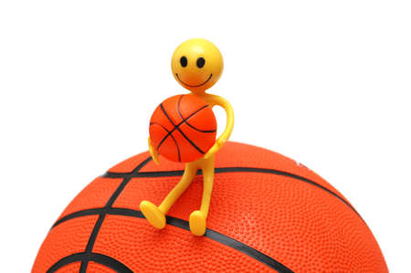 tabassum: Smilie with basketball isolated on the white