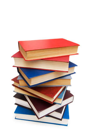 Stack of books isolated on the white Stock Photo - 2779669