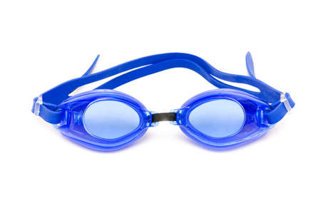 swimming goggles: Swimming goggles isolated on the white background