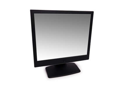 Black lcd monitor isolated on the white Stock Photo - 2996359