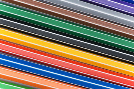 Close up of pencils of various bright colours photo