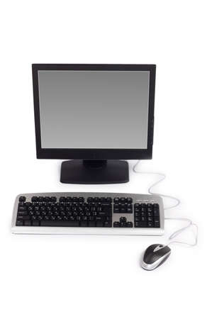 Personal computer isolated on the white background photo