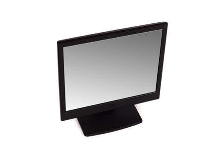 Black lcd monitor isolated on the white Stock Photo - 3118312