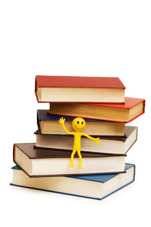 tabassum: Back to school concept with books and smilies