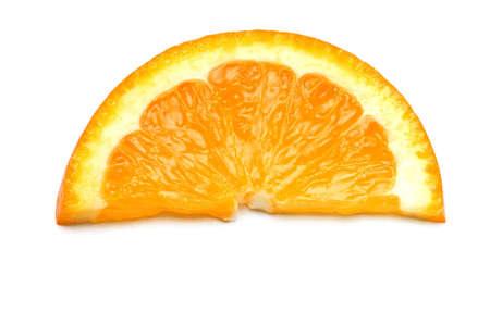 Orange slice isolated on the white background Stock Photo - 3185981